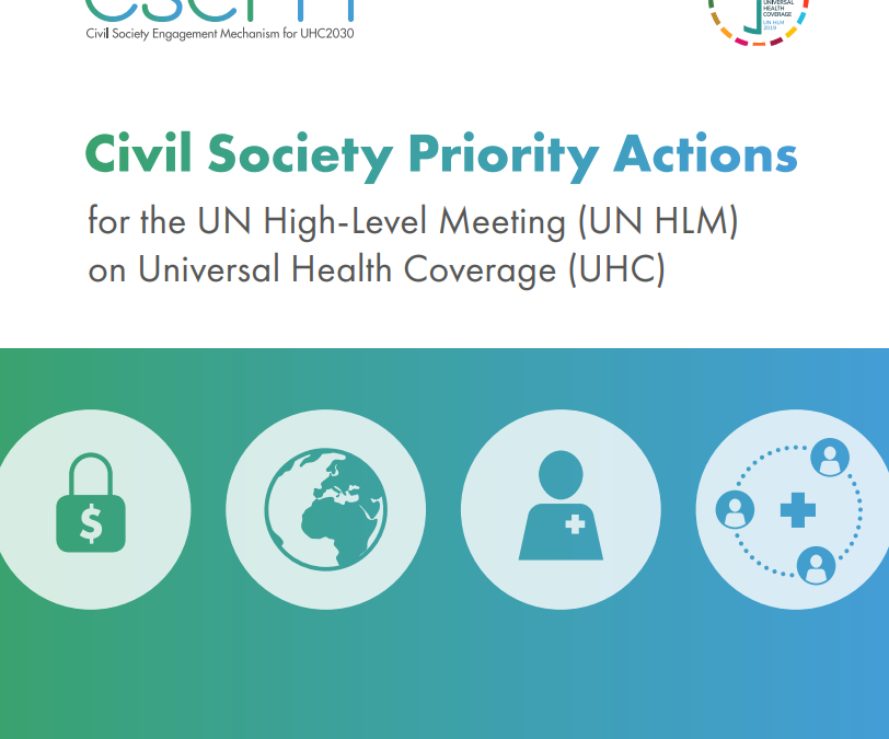 Civil Society Priority Actions for the UN High-Level Meeting on Universal Health Coverage
